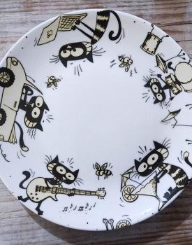 """Šķīvis """"Aktīvais kaķis"""""""
